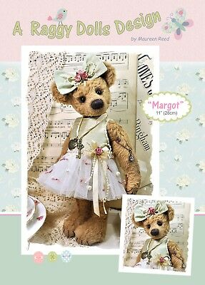 MARGOT BALLERINA BEAR - Sewing Craft PATTERN - Vintage Artist Bear Pattern