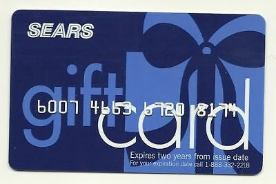 Sears Old Used Gift Card No $ Value Collectible