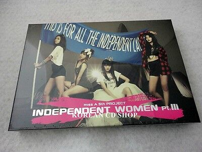 MISS A 5TH PROJECT MINI ALBUM Independent Women CD+ POSTER+ FREE GIFT