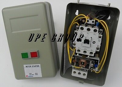 Magnetic Motor starter control with Push Button on / off 5hp 1ph 230v  34 amp