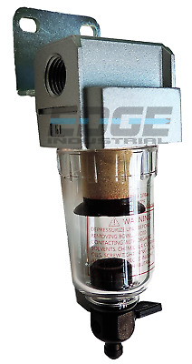 "NEW 1/4"" Compressed Air In Line Moisture & Water Filter Trap F202 Compressor"