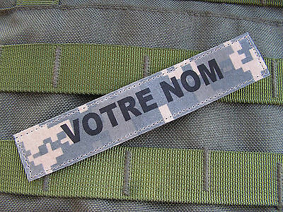 SNAKE PATCH - Bande patro. ACU digital - NAME TAPE us army AUTO AGRIPPANT
