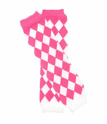 NEW Baby Toddler Girls Pink & White Diamond Leg Warmers