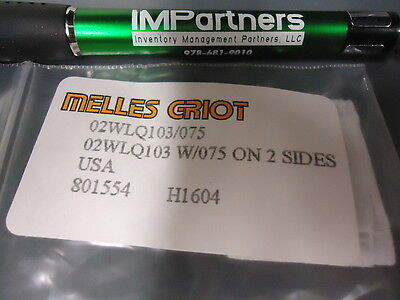 Melles Griot 02WLQ103 Precision Fused-Silica Window Brand New!