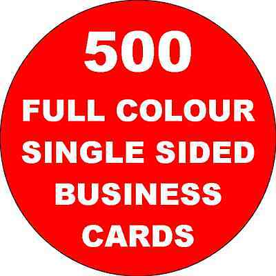 500 SINGLE SIDED Colour Business Cards Printed on 350gsm