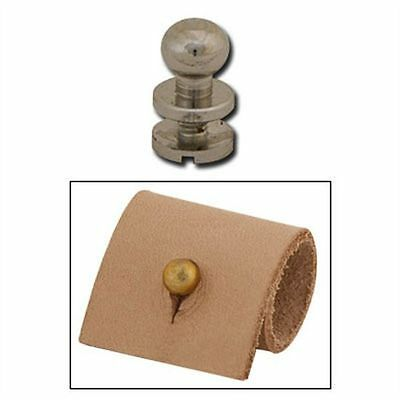 "Screwback 1/4"" Nickel Plated Button Stud 11309-02 by Tandy Leather"