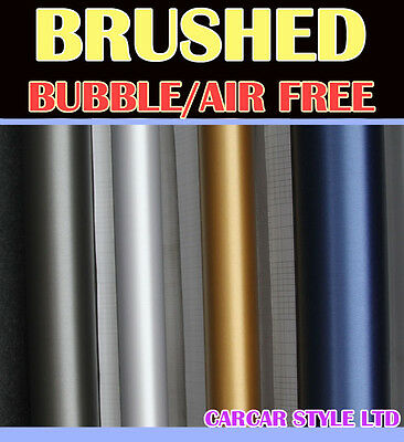 【BRUSHED】Vehicle Wrap Vinyl Sticker Film 【0.3m(11.8in)x1.52m(59.8in) Air Free】