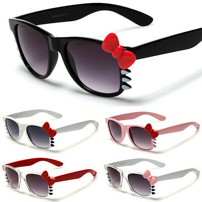Hello Kitty Womens Fashion Bow & Whiskers Sunglasses Ladies Cute Glasses NEW