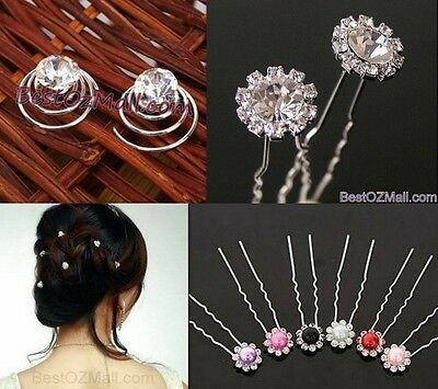 Wedding Bridal Rhinestone / Pearl Hair Pins Ladies Womens Hair Accessories Jewel