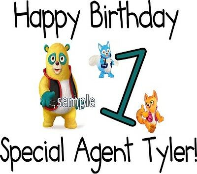 Special Agent Oso Personalized Birthday T-shirt