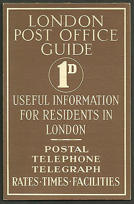 London Post Office Guide 1D Advertising Stand Up Card