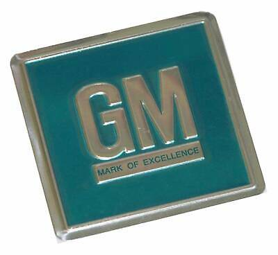 1964-68 GM Embossed Metal Foil Door Jamb Decal Badge Turquoise SS 442 GS GTO