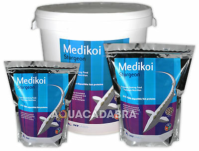 NT LABS MEDIKOI STURGEON & STERLET FOOD 2mm 4.5mm 8mm SINKING PELLET FISH POND