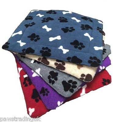 SNUGGLEPAWS Snuggie Pets Paws  Comfy Cage / Crate Dog Mat / Bed Fleece Blanket