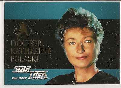Star Trek TNG Next Generation Season 2 Embossed Chase Card S11 Doctor K. Pulaski