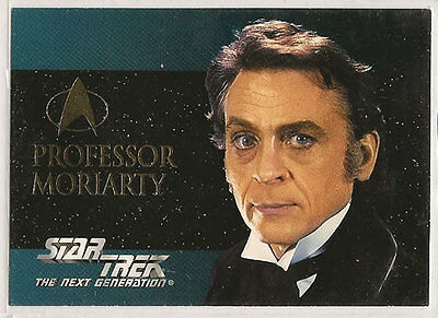 Star Trek TNG Next Generation Season 2 Embossed Chase Card S12 Prof. Moriarty