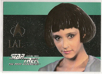Star Trek TNG Next Generation Season 3 Embossed Chase Card S17 Lal
