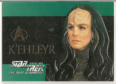 Star Trek TNG Next Generation Season 3 Embossed Chase Card S18 K'Ehleyr