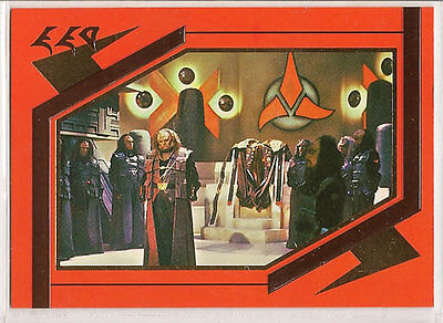 Star Trek TNG Next Generation Season 5 Embossed Chase Card S25 Kling Great Hall
