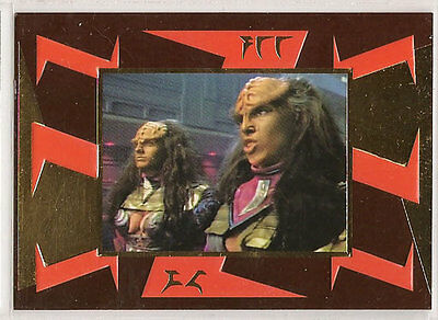 Star Trek TNG Next Generation Season 5 Embossed Chase Card S26 Lursa and B'Etor