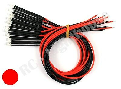 RC LED Light Replacement Lead -  Red 3mm 2pc