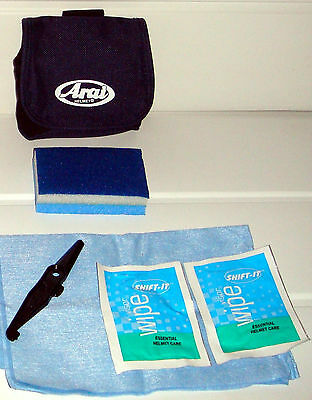 Shift It Helmet and Visor Cleaning kit in Arai Pouch