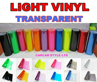 【LIGHT VINYL】 200MM X 300MM Tint Headlight Taillight Transparent【ALL COLOURS】
