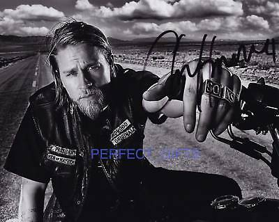 CHARLIE SIGNED PP PHOTO sons of anarchy jax teller