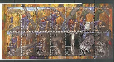 Easter, Jesus, Stations Of The Cross On Croatia 2011 Booklet, Mnh