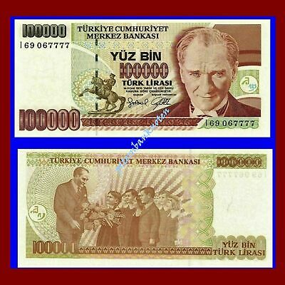 Türkei Turkey 100000 Lira 1997 Unc.Pick 206 #