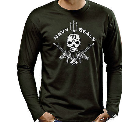 * Navy Seals Special Forces  T-Shirt *3195 oliv LS