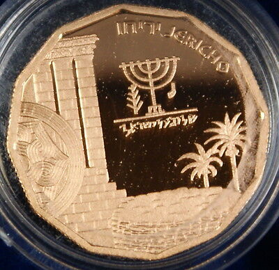 1987 Israel 1/4 Oz Jericho Gold Proof Coin, 5 New Sheqalim, Sites in Holy Land