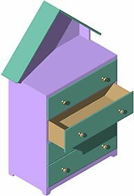 Doll House Dresser Woodworking Plan by Plans4Wood
