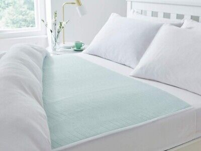 Washable Reusable Bed Pad 85 x 135 cms With Wings 4 Litre, Double bed size.