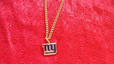 New York Giants Logo Charm with Necklace NFL