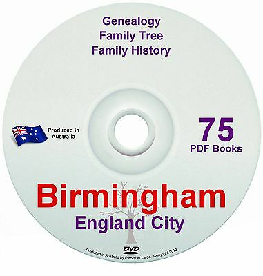 Family History Tree Genealogy Birmingham England Britain 75 historic books