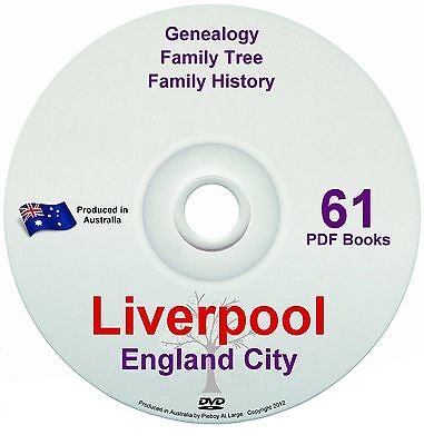 Family History Tree Genealogy Liverpool England Britain 61 historic books