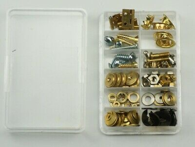 Clock repair kit parts, grommets screws fixing nuts washers hinges clockmakers