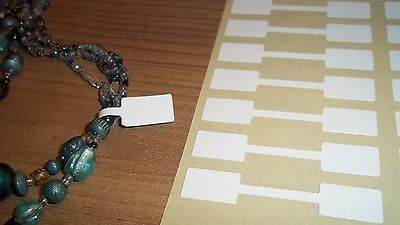 2000 10 x 54mm WHITE Jewellery / Price Stickers Tags / Dumbell Sticky Label