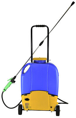 16L Rechargeable Battery Backpack Weed Sprayer with Wheels  Electric Garden 240v