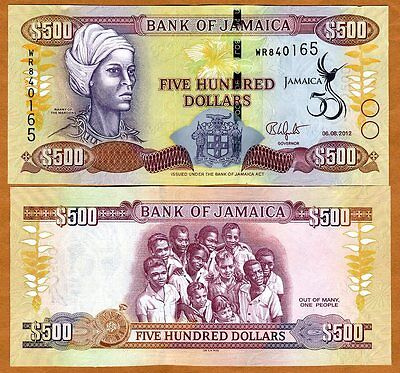 Jamaica, $500, 6-8-2012, P-91, UNC > New Commemorative