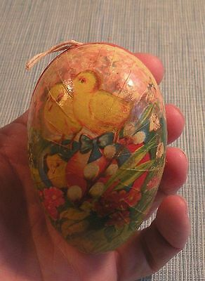 Old Easter Egg Candy Container-Chicks-Pussy Willow
