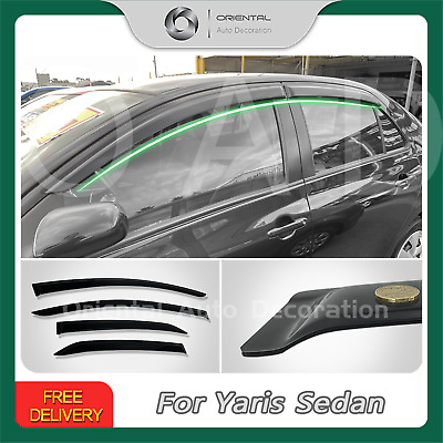 Premium Weather Shields Weathershields Window Visors Toyota Yaris Sedan 06-19