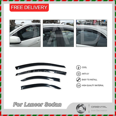Premium Weather Shields Weathershields Window Visors Lancer CJ Sedan 08-19 4pcs