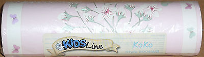 Kidsline Koko WALL BORDER oriental pink flowers cherry blossoms butterflies NEW