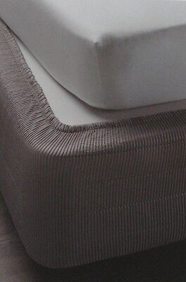 New Adjustable Valance for Double / Queen / King Bed -Charcoal