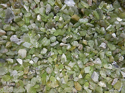 Peridot Stone from Afghanistan - Clear Olive Green (Small Pieces) 65 gram Lot