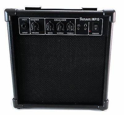 Benson 15w electric overdrive guitar, bass & Electronic drum amplifier practise