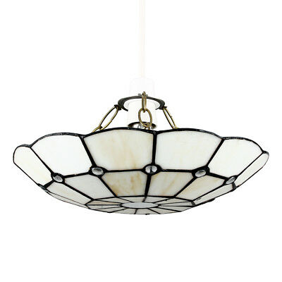 Vintage Retro Style White Cream Glass Ceiling Light Pendant Shade Lampshade