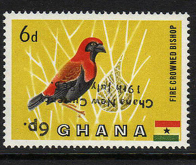 GHANA 1965 6p ON 6d WITH OVERPRINT INVERTED SG 385a MNH.